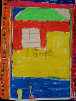 """Fenêtre sur Pithiviers, d'après l'oevure de Matisse """"Fenêtre sur Collioure""""."""