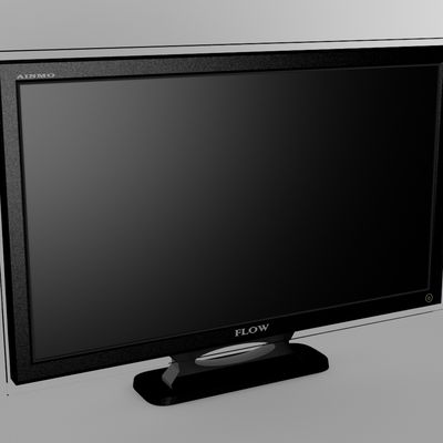 Modeling a LCD TV with Vray render