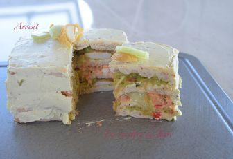 Sandwich cake à l'avocat