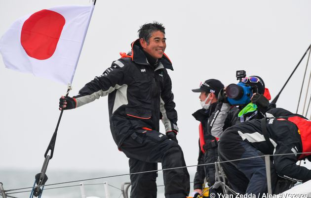 Kojiro Shiraishi, first japanese skipper succeeded to cross the finishing line
