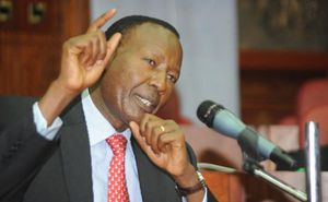 Nkaissery speaking in the conference