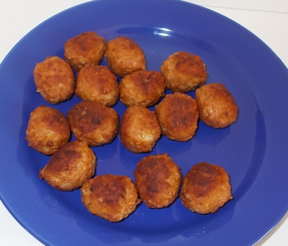 Penny Mike Mitchell's Chicken Meatballs Chili-Cheese