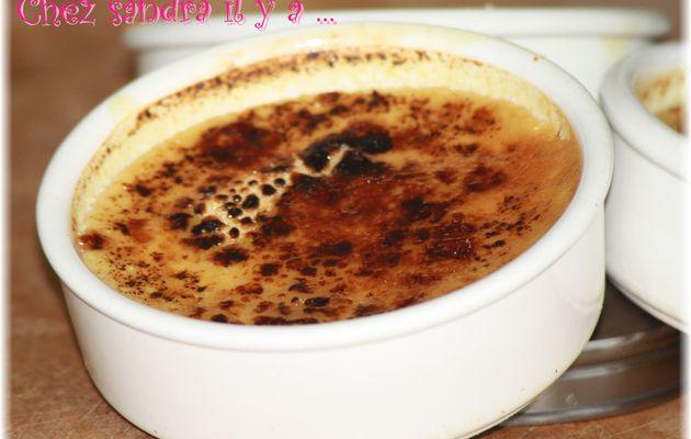 Crèmes brulées à la confiture de fraise