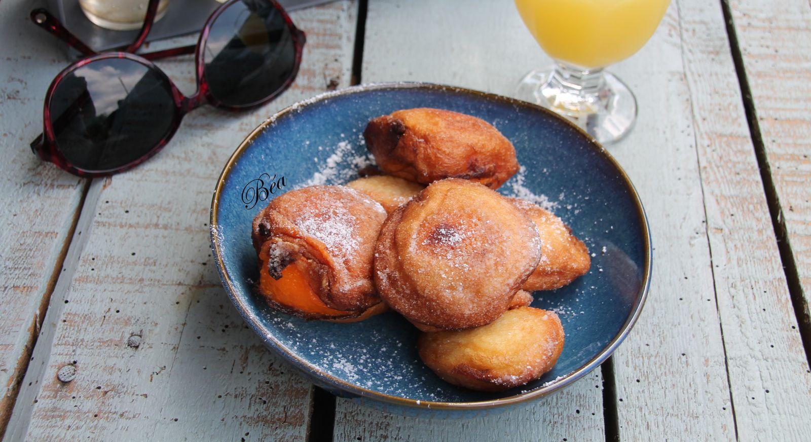 Beignets aux abricots