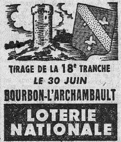 Loterie nationale, tirage du 30 juin 1948