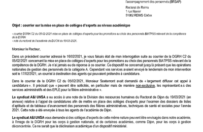 SA courrier Recteur 300321: Collèges EXPERTS