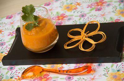 Crème de carottes à l'orange et au cumin