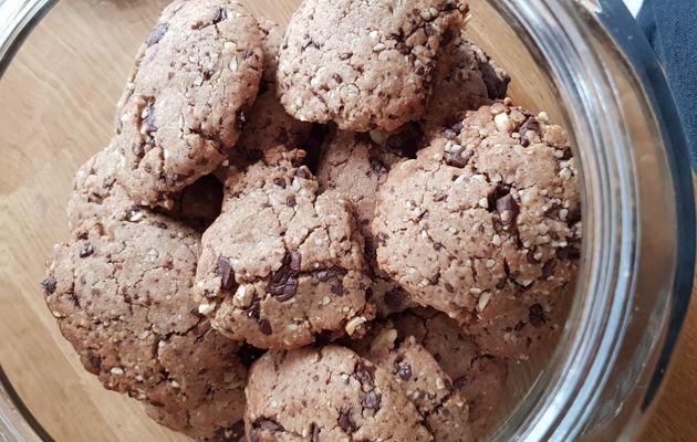 Cookies coco, chocolat et noix du Brésil Thermomix