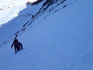 Ovidiu dans la face Nord de l'Äbeni Flue (Jungfrau)