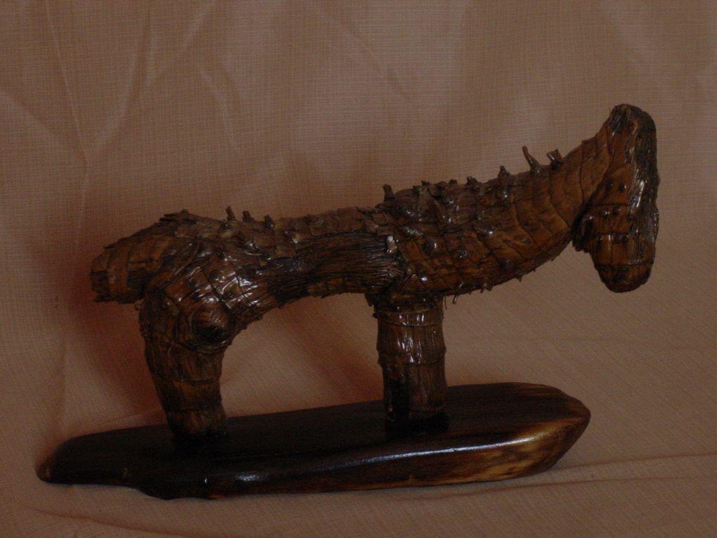 Cet album est constitué d'images de sculptures réalisées en bois flotté.