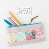 {lbg studio}: tutorial | patchwork zipper pouch