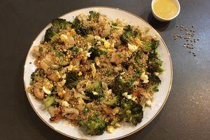 Chou-fleur et brocoli rôtis au sarrasin
