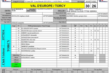 SERRIS VE vs TORCY HB MLV (Coupe 77 -18M) 06.03.2014