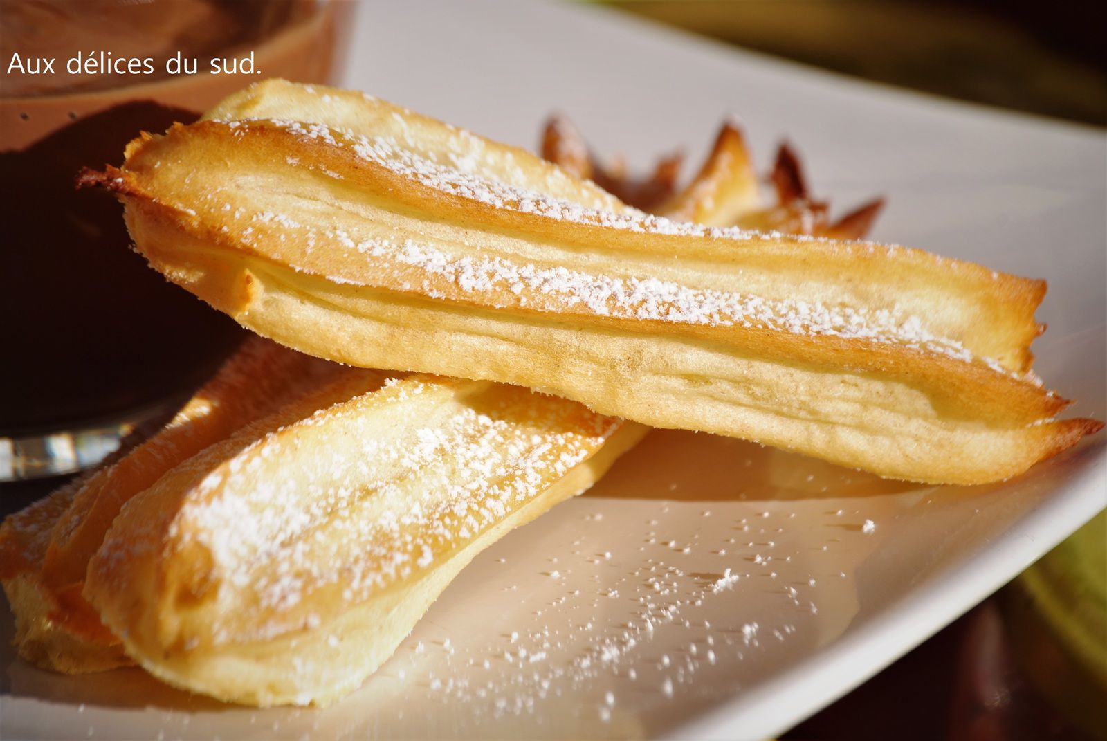 Churros au four .