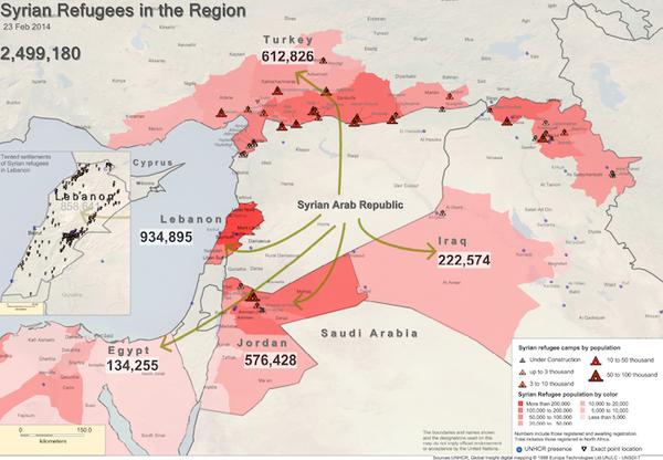 EN IRAK COMME EN SYRIE, RÉFUGIÉS ET DÉPLACÉS SE COMPTENT PAR MILLIONS
