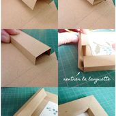 DIY Gifts And Wrap : Cadre en papier, tutoriel Coeur d'artichaut© - GiftsDetective.com | Home of Gifts ideas & inspiration for women, men & children. Find the Perfect Gift.