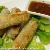 Nems au poulet - Cuisine gourmande de Carmencita