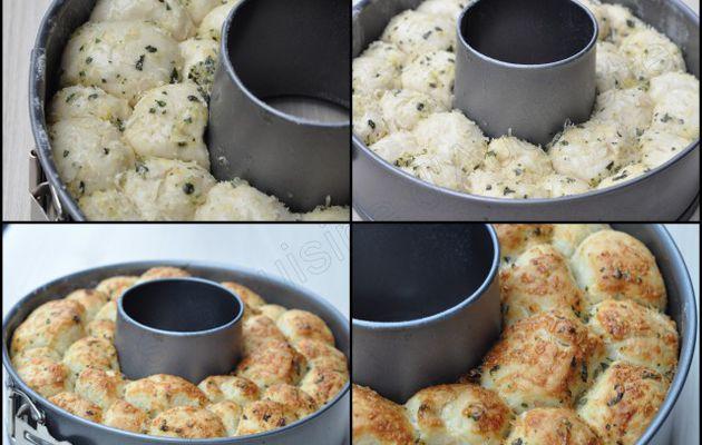 Pull Apart bread au parmesan, ail et basilic