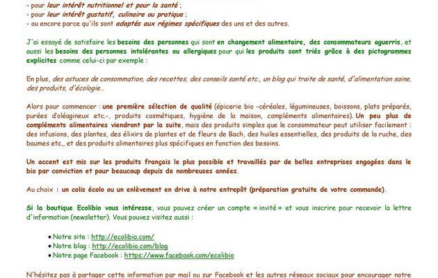 Ecolo Bio un magasin bio en ligne