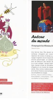 """Notre spectacle """"Autour du Monde"""" au festival 1, 2, 3... en scène! de Toulouse"""