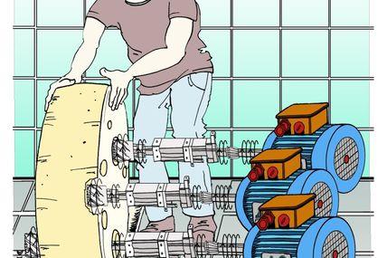Elektromotor - damit der Käse zu Löchern kommt