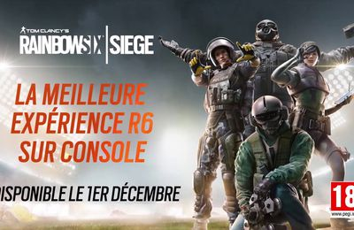 Les versions PS5 et Xbox Series X|S de Tom Clancy's Rainbow Six Siege seront disponibles le 1er décembre