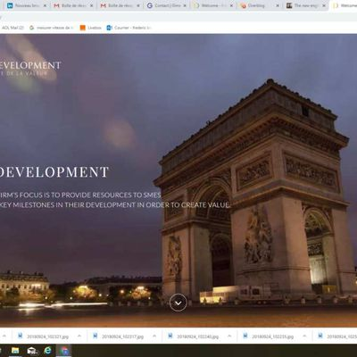 The new english version of IDEAL DEVELOPMENT web site