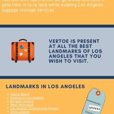Luggage storing facilities at Los Angeles Airport