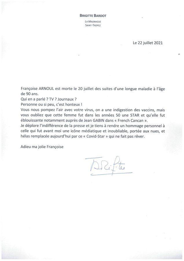 """""""C'est honteux"""" : Brigitte Bardot pousse un coup de gueule"""