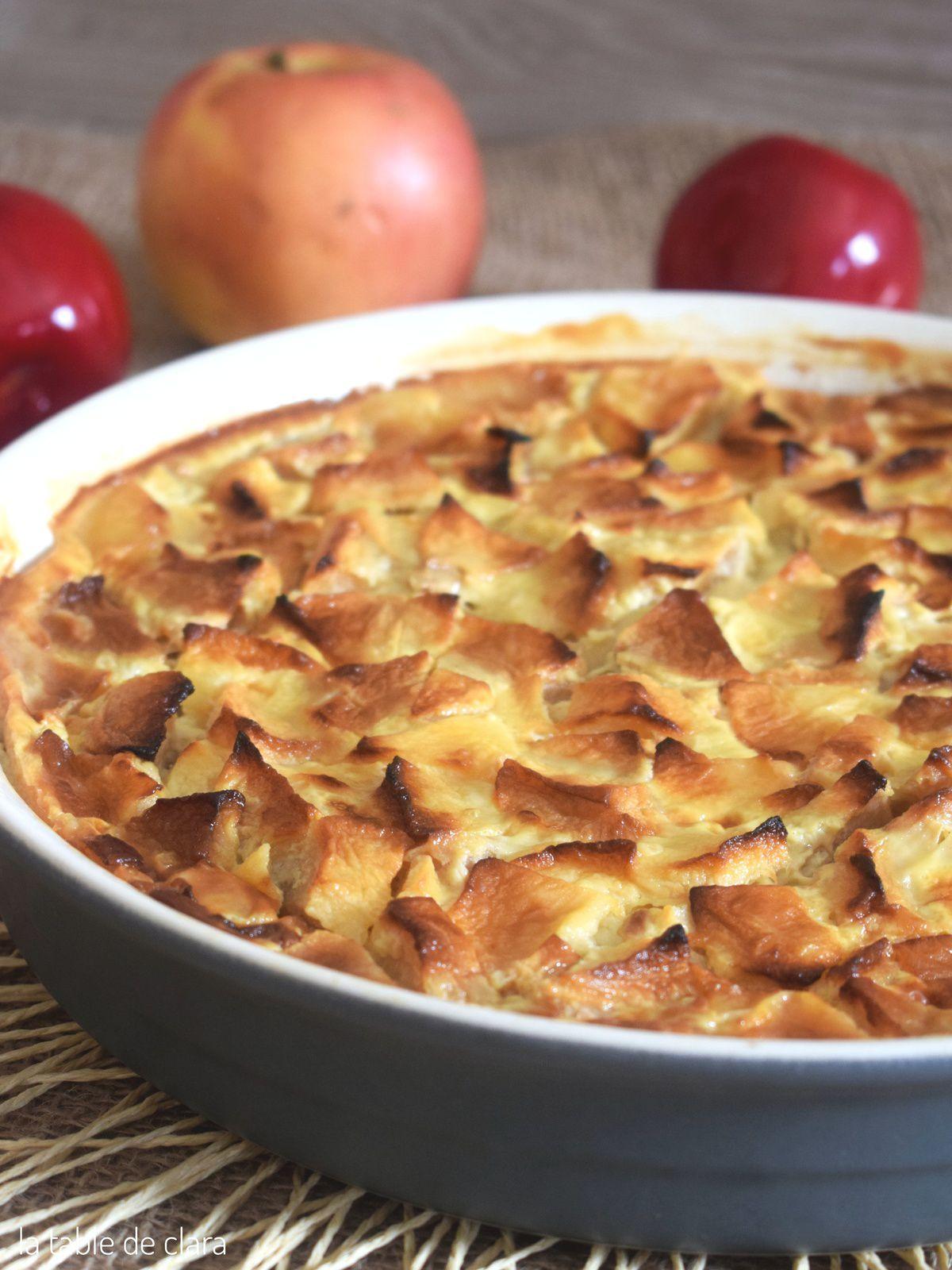 Clafoutis aux pommes ... très léger