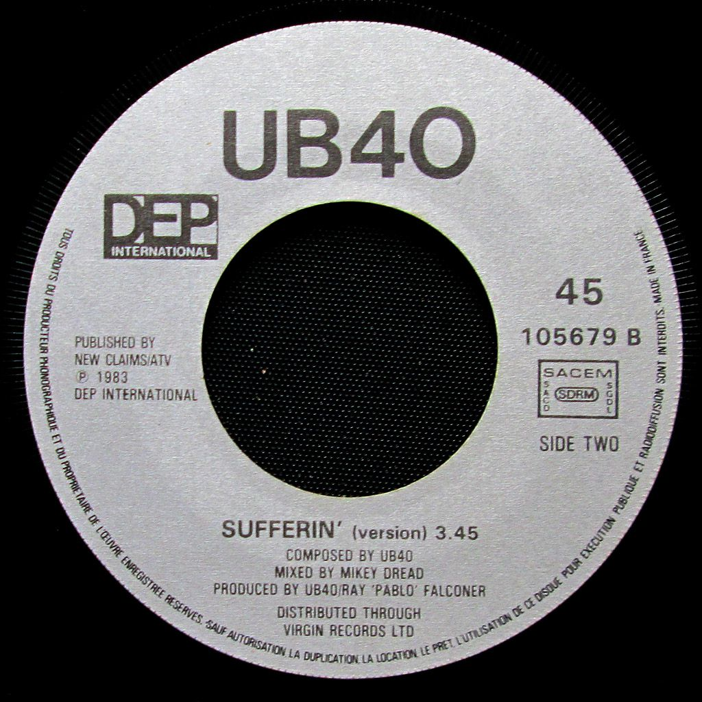 UB40 - red red wine / sufferin' - 1983