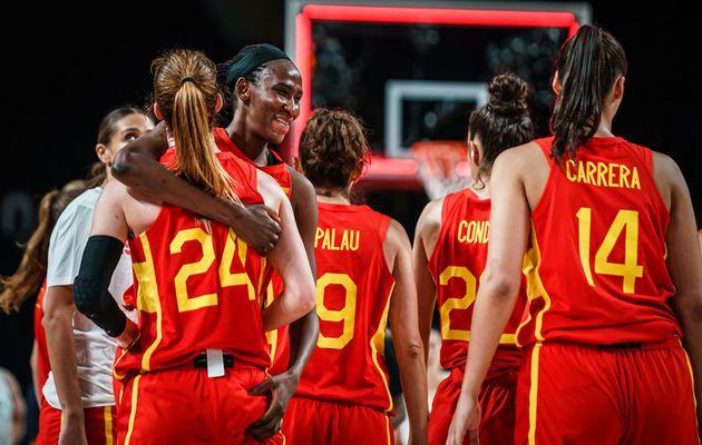 Jeux Olympiques : l'Espagne bat difficilement la Corée grâce à une excellente Astou Ndour (28 points, 10 rebonds et 4 contres pour 30 d'eval)