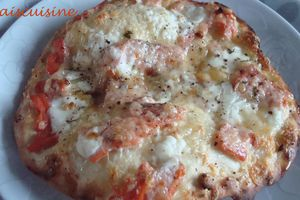 Pizza saumon fumé, boursin