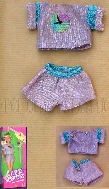 """FUNTIME"" BARBIE DOLL CLOTHES 1986 MATTEL #3718"