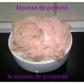 Mousse aux pommes au thermomix - La cuisine de poupoule