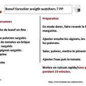 Boeuf forestier weight watchers au cookeo:la fiche |