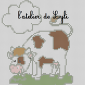 Grille gratuite : la vache - L'atelier de Lyli