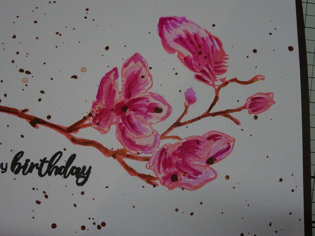[Altenew] Dotted Blooms : technique du watercolor