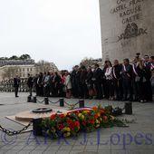 Cerimónias comemorativas do centenario da batalha de La Lys. Arco do Triunfo em Paris. - José Lopes