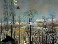 La Carriole du Père Junier - 1908 / La Guerre - vers 1894 / La tempête / Eve - vers 1906 / Un soir de Carnaval 1886 / Portrait de l'artiste à la lampe - 1902 / Portrait de la seconde femme de l'artiste - 1903