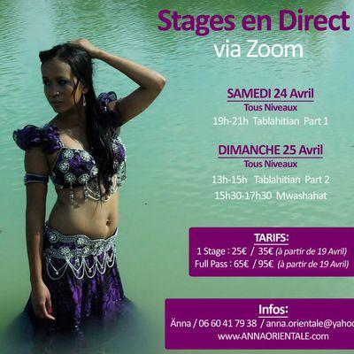 Stages de danse orientale EN LIGNE (Avril)