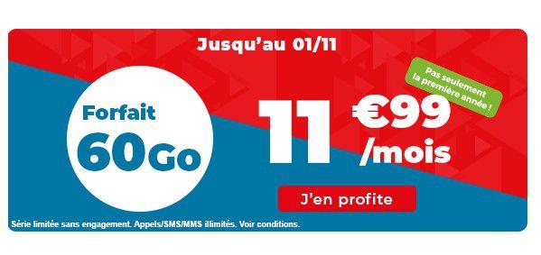 Operateur Mobile : Auchan Telecom casse le prix du forfait 60 Go à vie !