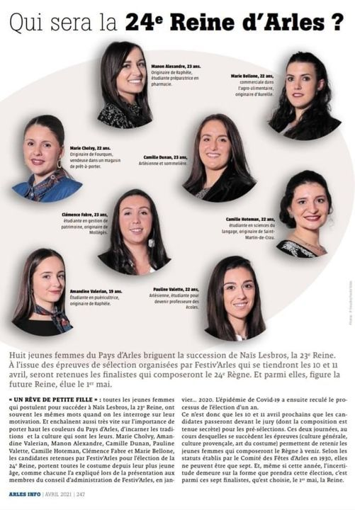 Qui sera la 24 ième reine d'Arles ?