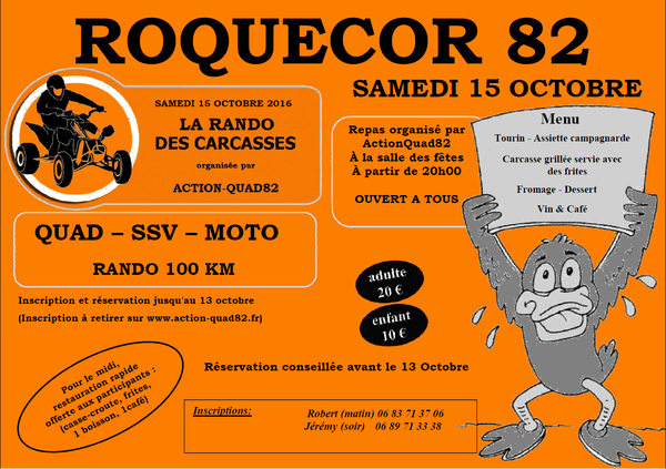 Rando des carcasses à Roquecor (82), Quad, SSV, Moto d' Action-Quad82 le 15 octobre 2016