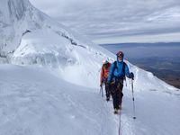 Crevasses et séracs - le glacier du Cotopaxi