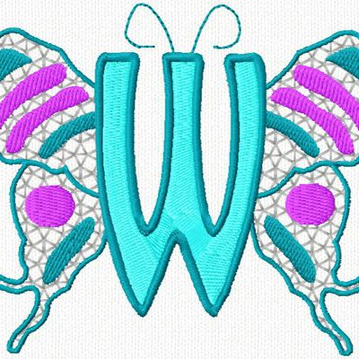 W alphabet papillon