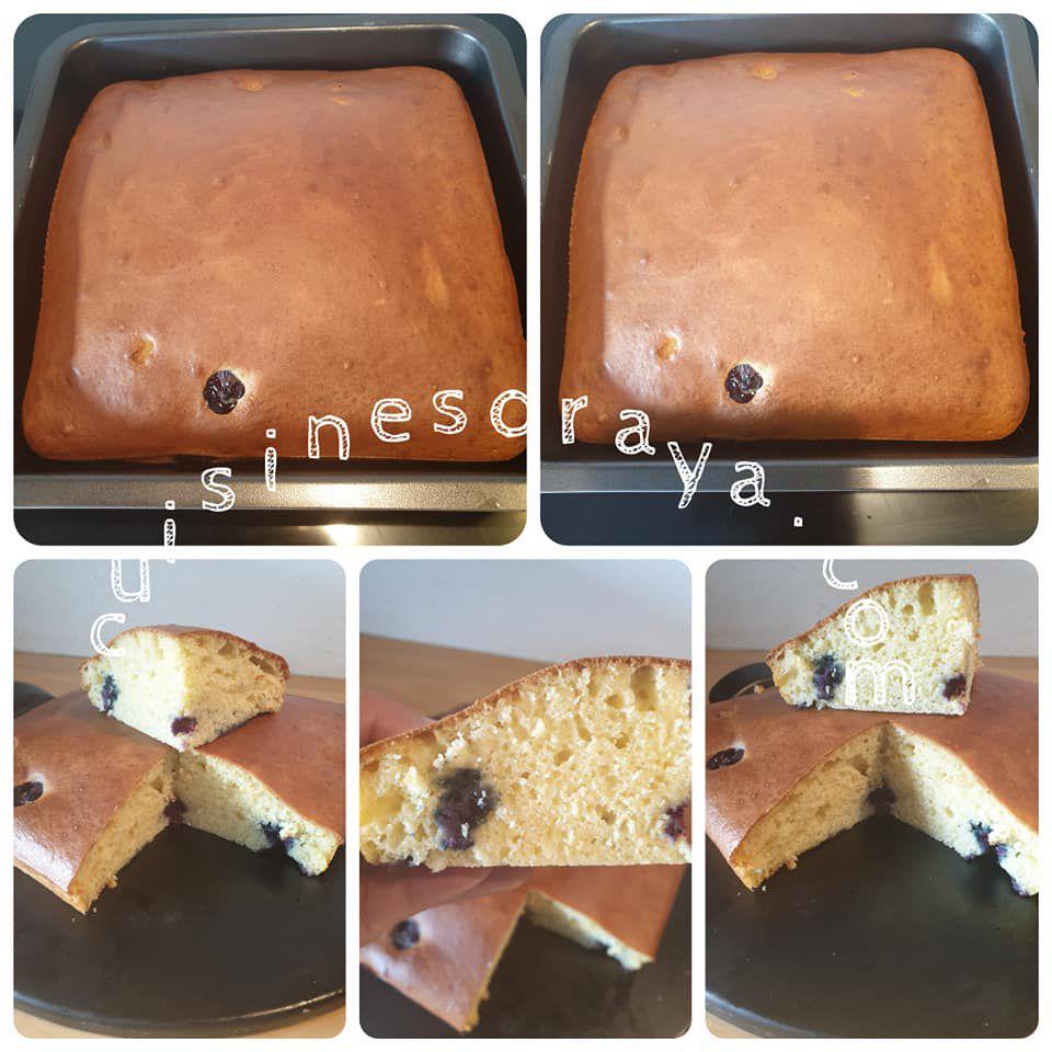 Gâteau au yaourt et myrtilles