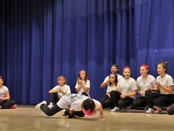 Mit viel Freude dabei, die TSG-Breakdancer.