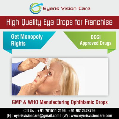 Best Eye Drop Franchise Business Opportunity