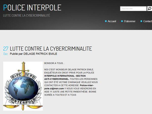 Les brouteurs & Interpol